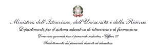 Decreto Dipartimentale n. 73 del 28 gennaio 2019. Integrazione graduatorie di istituto  del personale docente, in attuazione del D.M. 3 giugno 2015 n. 326.