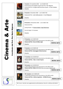 Cinema & Arte nuova programmazione