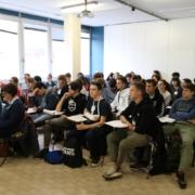 gruppo di studenti alla facoltà di fisica